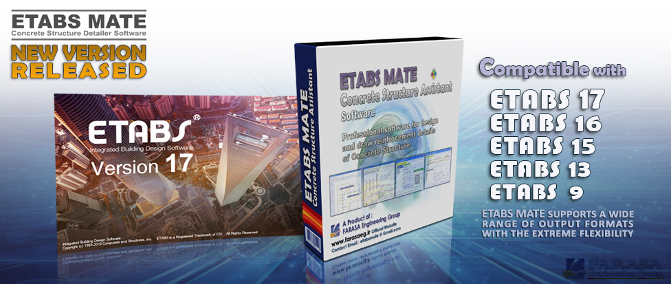 ETABS MATE compatible with ETABS17, 16, 15, 13, 9